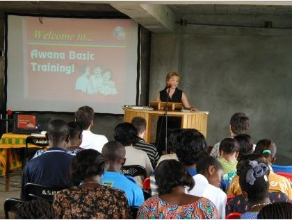 Bethany teaching awana in africa