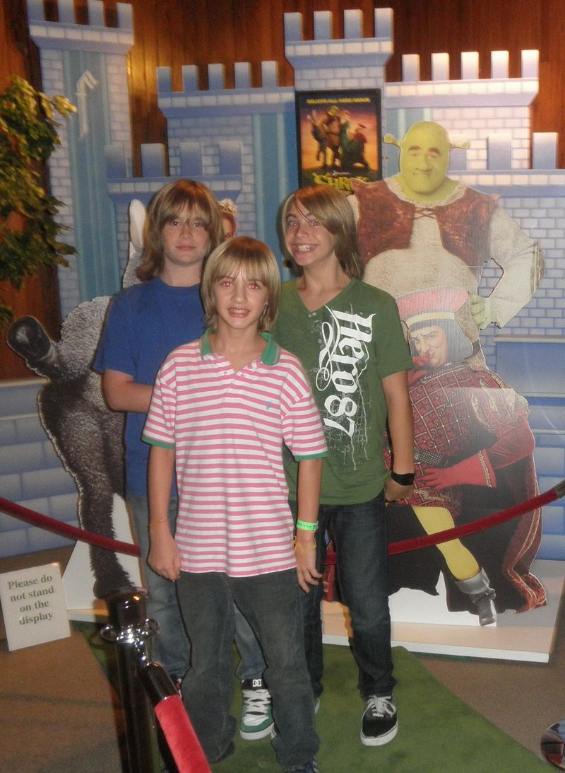 Kids at shrek
