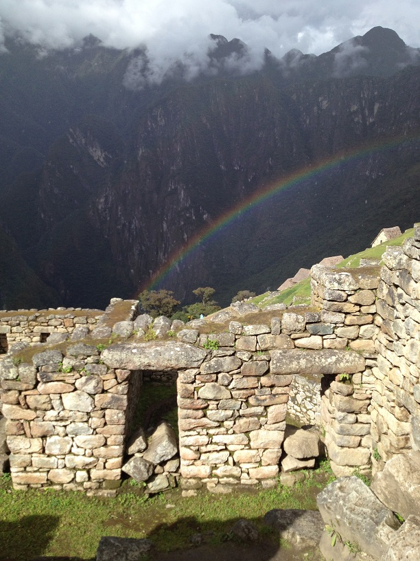 Machu picchu rainbow