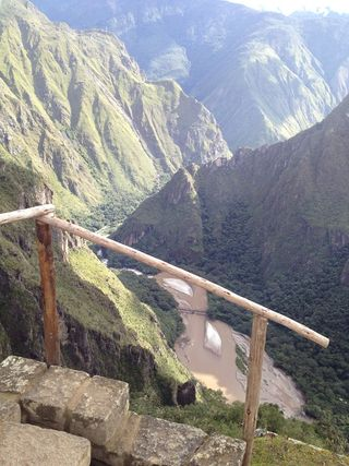 Machu picchu railing