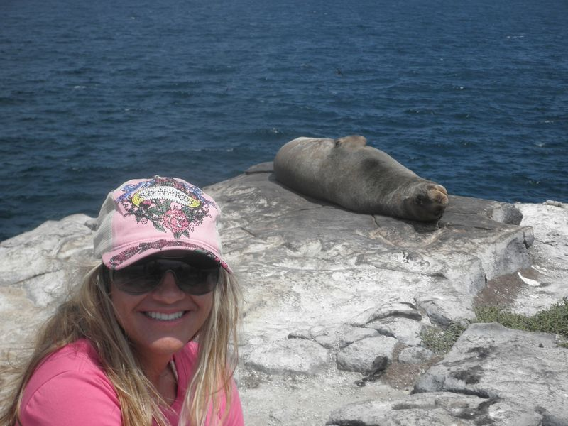 Galapagos me and a seal