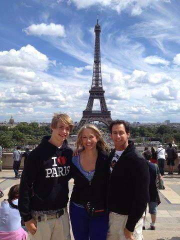 Eiffel tower all three of us